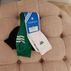3 pk Adidas men's socks Shoe Size 6-12